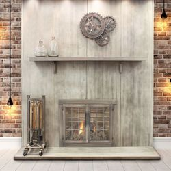 Wayland Steel Fireplace Mantel Shelf