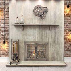 Wayland Steel Fireplace Mantel Shelf