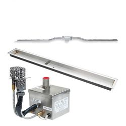 """Weather Resistant AWEIS Linear Drop In Fire Pit Burner System - 72"""" x 6"""""""