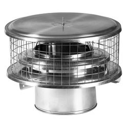 WeatherShield Air Cooled Stainless Steel Marine Chimney Cap