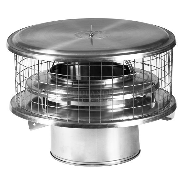 WeatherShield Air Cooled Stainless Steel Marine Chimney Cap image number 0