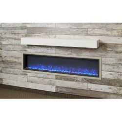 White Onyx Supercast Fireplace Mantel Shelf