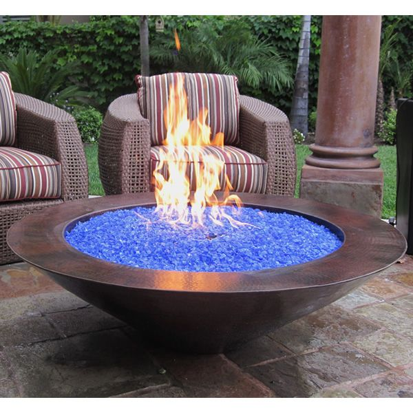 Tacora Copper Gas Fire Bowl image number 0