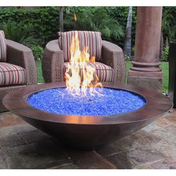 Tacora Copper Gas Fire Bowl