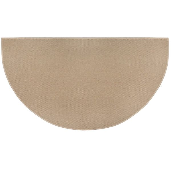 Tan Guardian Half Round Fiberglass Hearth Rug - 4' or 5' image number 0