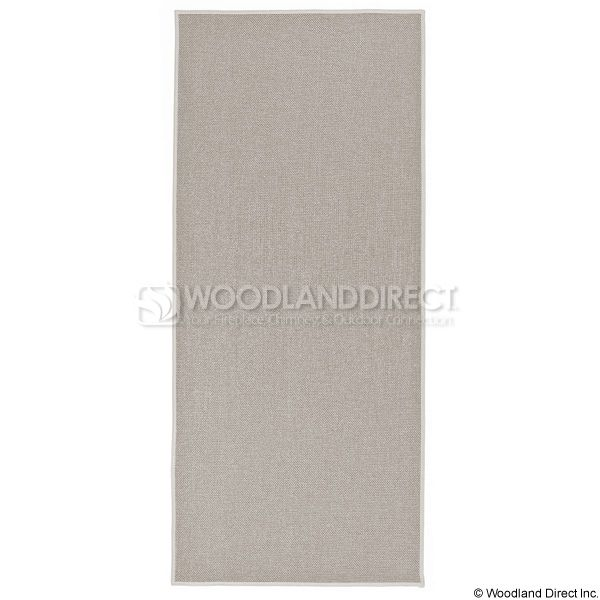 Tan Rectangular Fireplace Hearth Rug - 4' image number 0