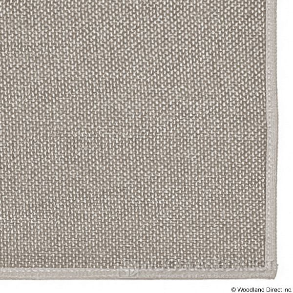 Tan Rectangular Fireplace Hearth Rug - 4' image number 1