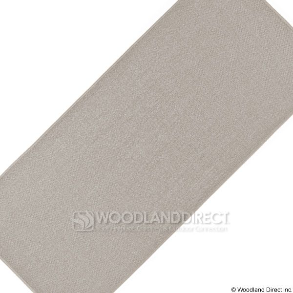 Tan Rectangular Fireplace Hearth Rug - 4' image number 2