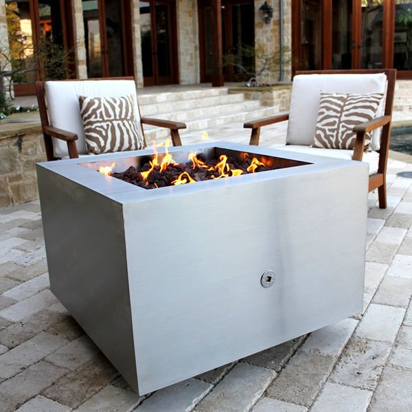 Tana Fia Stainless Steel Gas Fire Pit image number 1