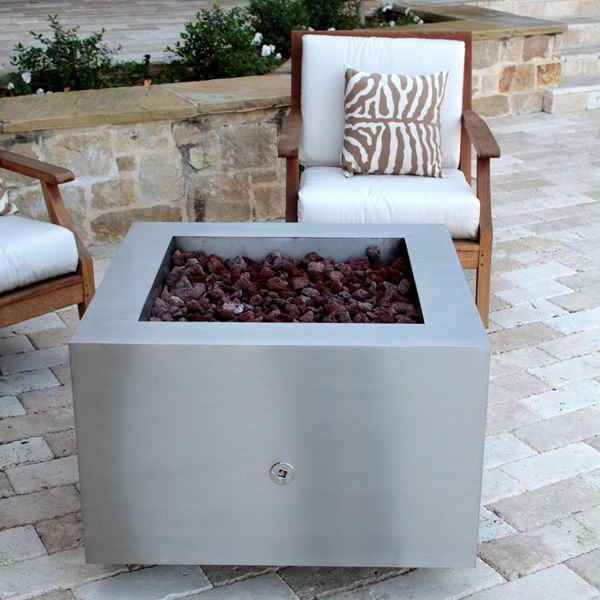 Tana Fia Stainless Steel Gas Fire Pit image number 2