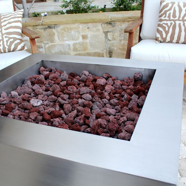 Tana Fia Stainless Steel Gas Fire Pit image number 3