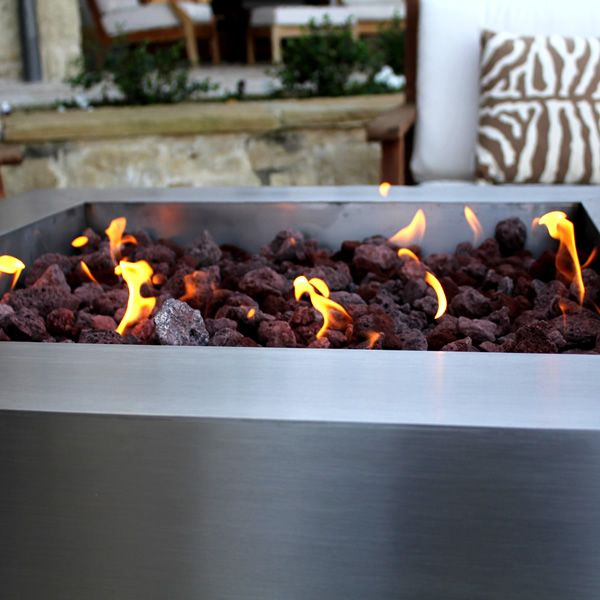 Tana Fia Stainless Steel Gas Fire Pit image number 4