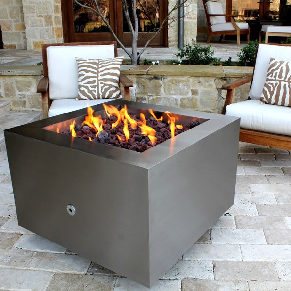 Tana Fia Stainless Steel Gas Fire Pit image number 5