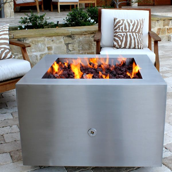 Tana Fia Stainless Steel Gas Fire Pit image number 6