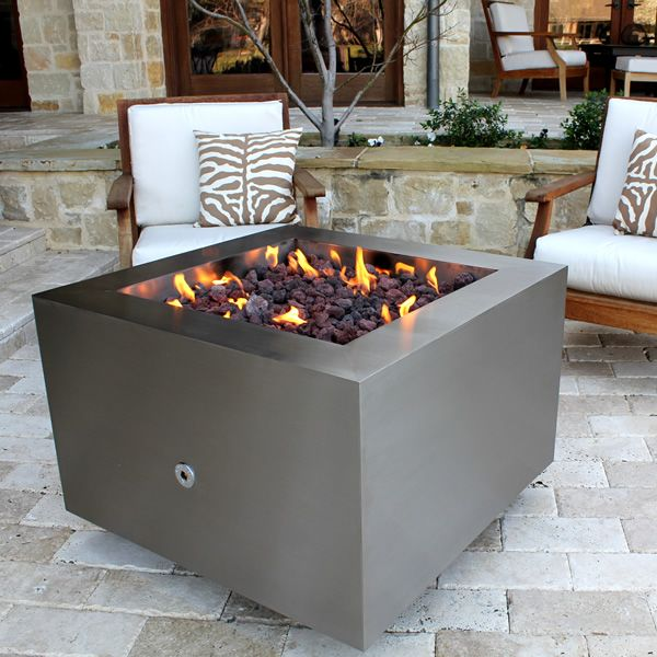 Tana Fia Stainless Steel Gas Fire Pit image number 7
