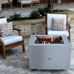 Tana Fia Stainless Steel Gas Fire Pit