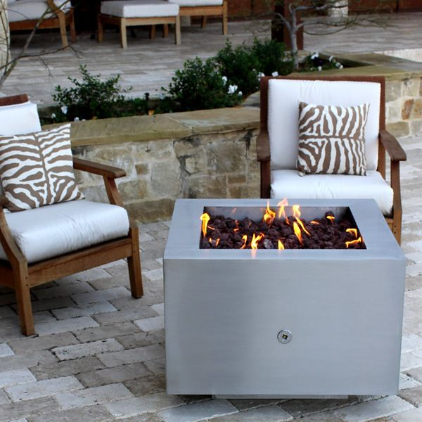 Tana Fia Stainless Steel Gas Fire Pit image number 0