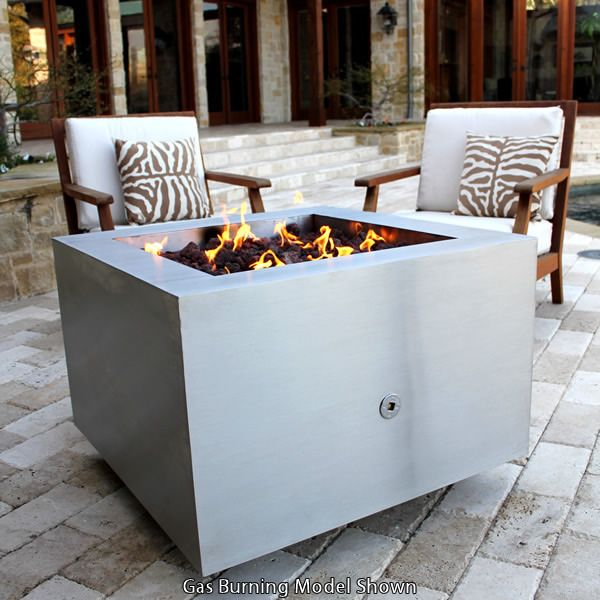 Tana Fia Stainless Steel Wood Burning Fire Pit image number 2