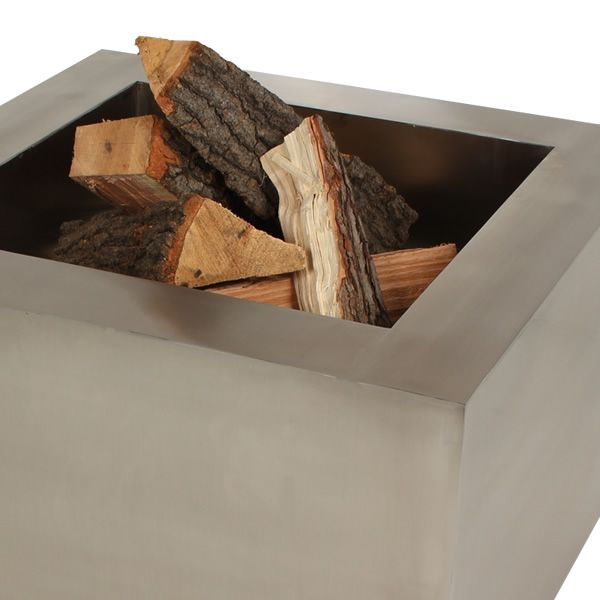 Tana Fia Stainless Steel Wood Burning Fire Pit image number 3