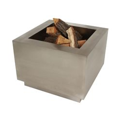 "Tana Fia Stainless Steel 35"" Wood Burning Fire Pit"