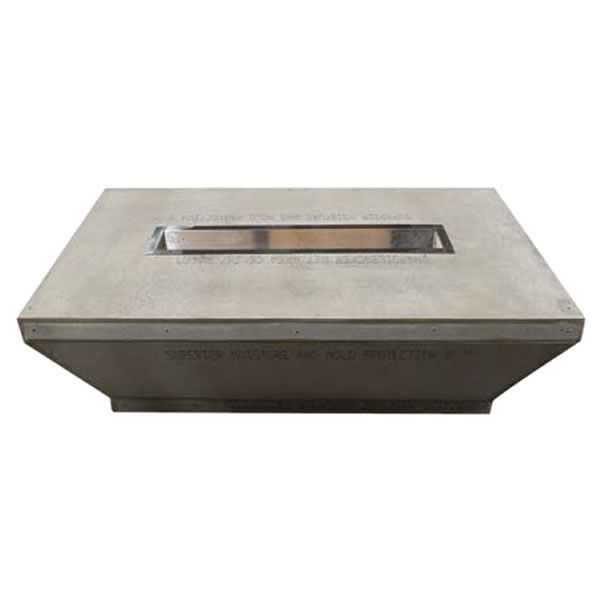 "Tapered Linear Unfinished Gas Fire Pit - 60""x36"" image number 0"
