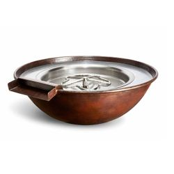 Tempe Copper Gas Fire & Water Bowl