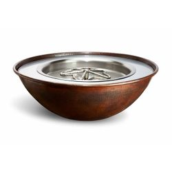 Tempe Copper Round Gas Fire Bowl