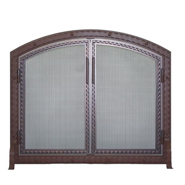 Templar Arched Fireplace Screen with Doors image number 0