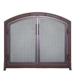 Templar Arched Fireplace Screen with Doors
