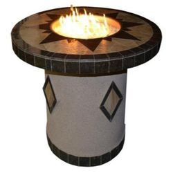 """OPT-5545 Round Dining Gas Fire Table - 48"""" - LP"""