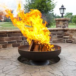 The Patriot Wood Burning Fire Bowl - Flat Edge