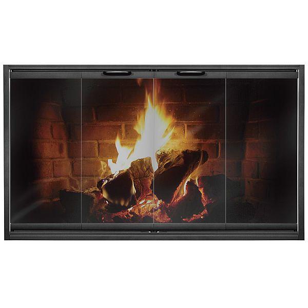 Thin-Line Masonry Fireplace Door image number 0
