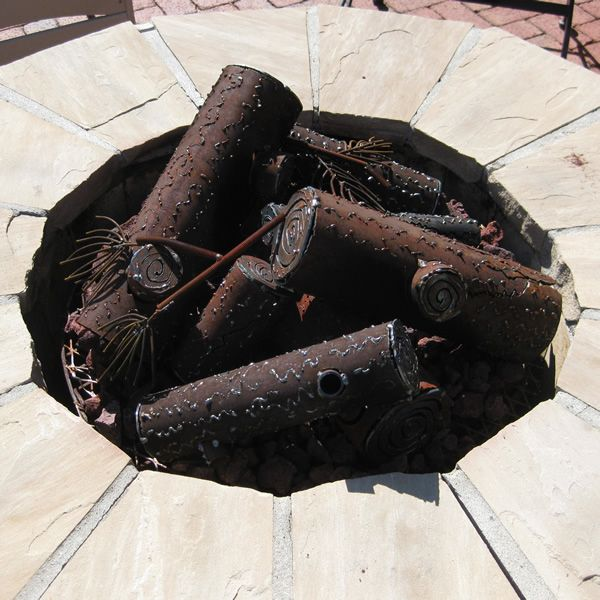TimberCraft Metal Art Classic Collapsed Steel Gas Logs image number 0
