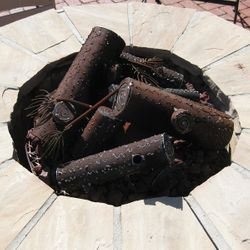 TimberCraft Metal Art Classic Collapsed Steel Gas Logs
