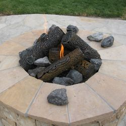 "TimberCraft Metal Art Premium Steel Fire Pit Gas Logs - 16"""