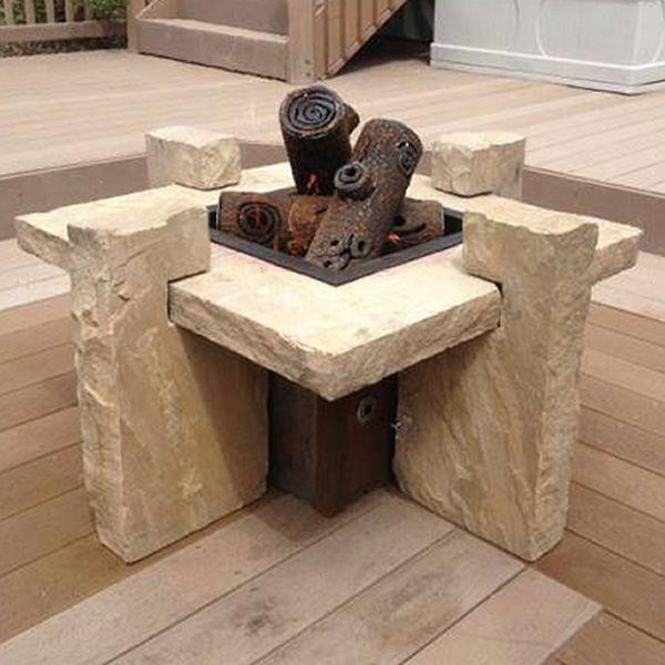 "TimberCraft Metal Art Premium Steel Fire Pit Gas Logs - 16"" image number 1"