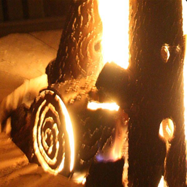 "TimberCraft Metal Art Premium Steel Fire Pit Gas Logs - 16"" image number 3"