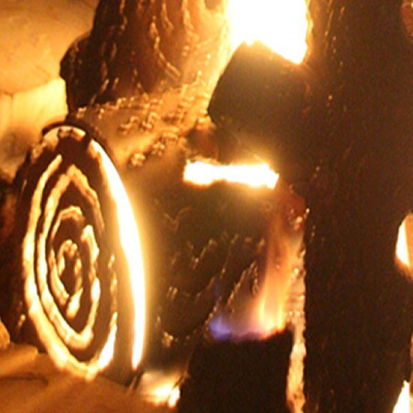 "TimberCraft Metal Art Premium Outdoor Steel Gas Logs - 16"" image number 2"
