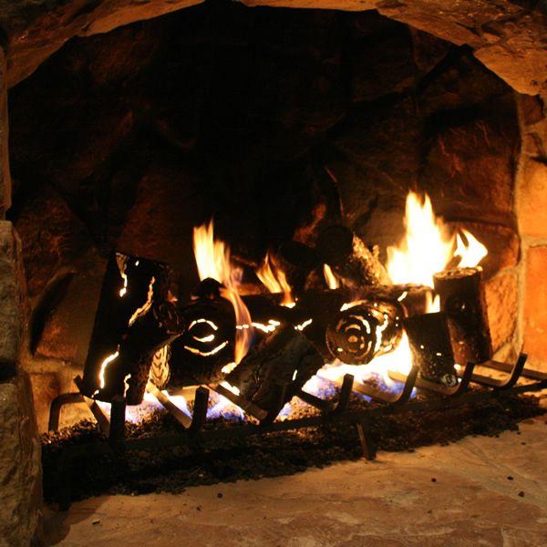 "TimberCraft Metal Art Premium Outdoor Steel Gas Logs - 16"" image number 0"