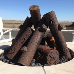 TimberCraft Metal Art Premium Tee Pee Steel Gas Logs - 29""