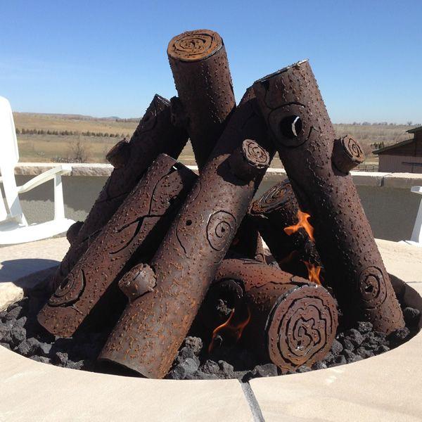 "TimberCraft Metal Art Premium Tee Pee Steel Gas Logs - 29"" image number 0"