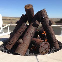 TimberCraft Metal Art Premium Tee Pee Steel Gas Logs-Custom
