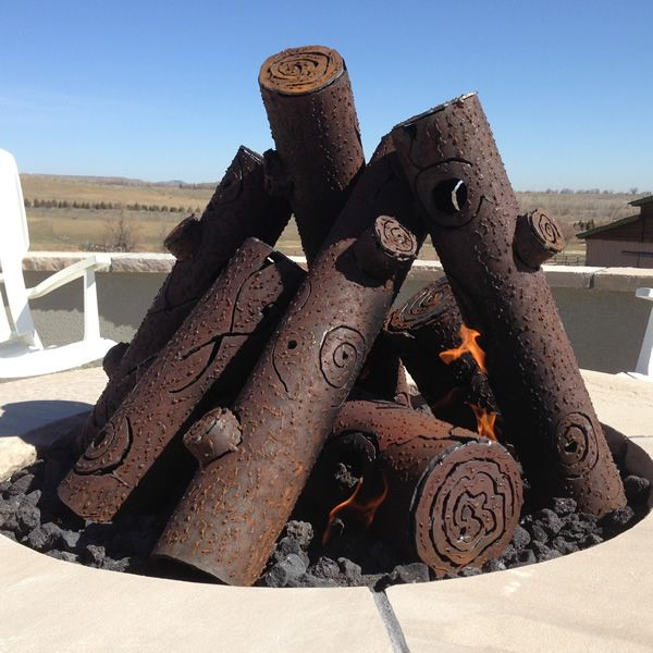 TimberCraft Metal Art Premium Tee Pee Steel Gas Logs-Custom image number 0