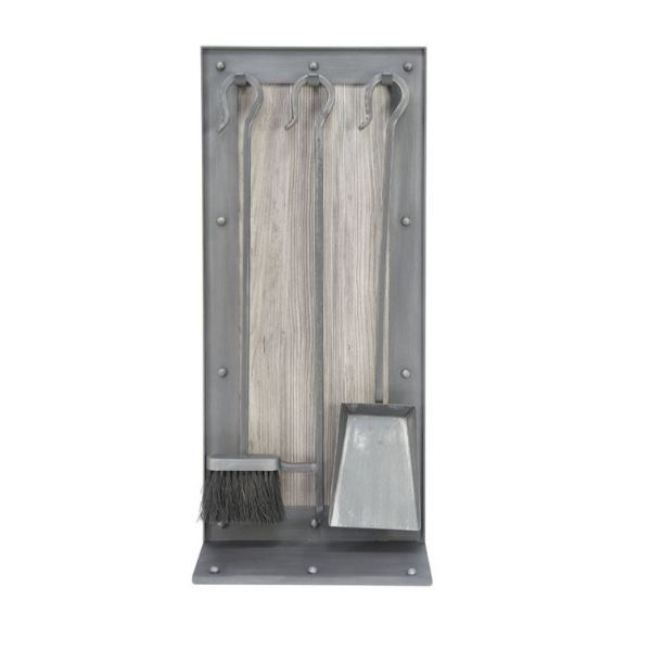 Transitional Iron Board Fireplace Tool Set image number 0