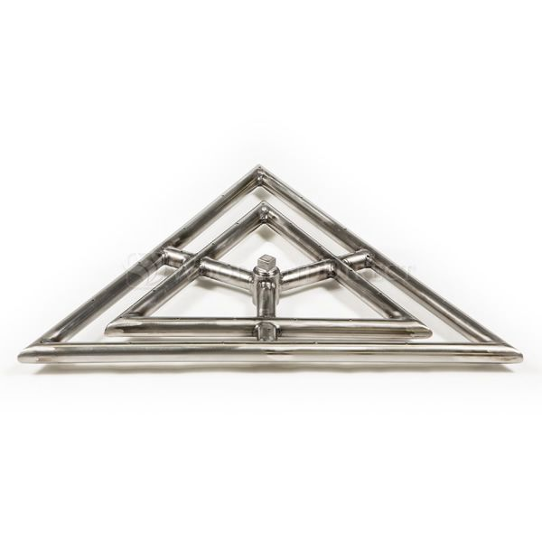 "Triangle Stainless Steel Gas Fire Pit Burner - 18"" image number 0"