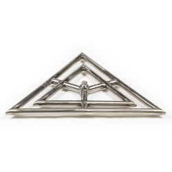 """Triangle Stainless Steel Gas Fire Pit Burner - 18"""""""