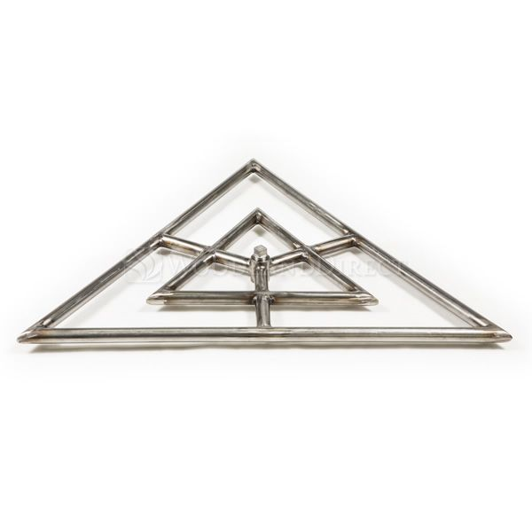 """Triangle Stainless Steel Gas Fire Pit Burner - 24"""" image number 0"""