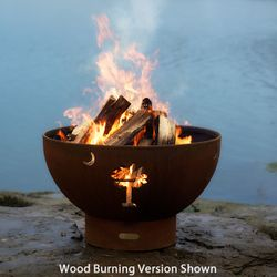 Tropical Moon Gas Fire Pit