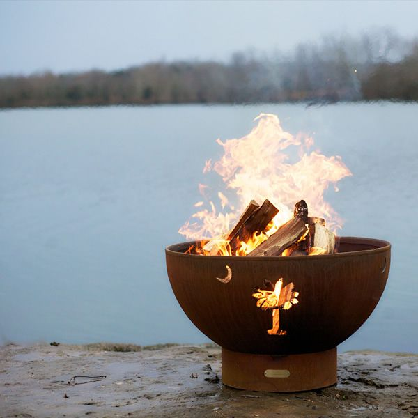 Tropical Moon Wood Burning Fire Pit image number 1