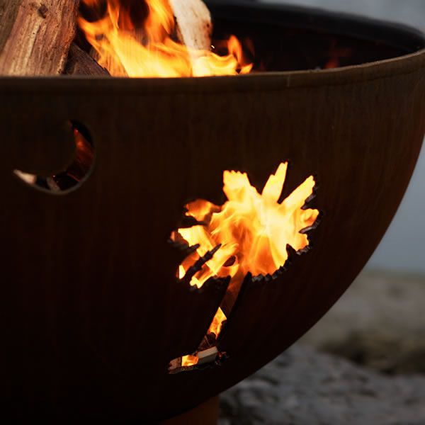 Tropical Moon Wood Burning Fire Pit image number 3